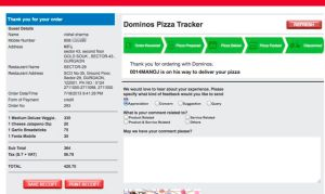 Domino's Pizza Confirmation
