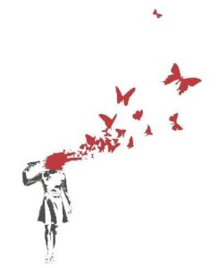 Butterfly Suicide By Banksy