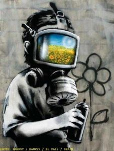 Gas Mask Boy by Banksy