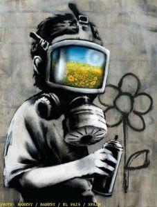 Gas Mask Boy by Banksy