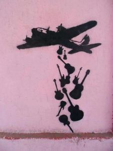 Make Music Not War by Banksy