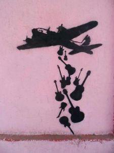 Make Music Not War by Banksy