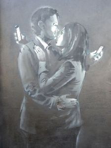 Mobile Phone Lovers by Banksy